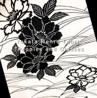牡丹柄浴衣反物/peony patterns yukata