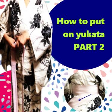 put on yukata 2 /浴衣の着付け2