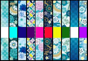 浴衣と帯の配色
