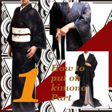 お洒落きもの着付け1/ how to put on kimono 1