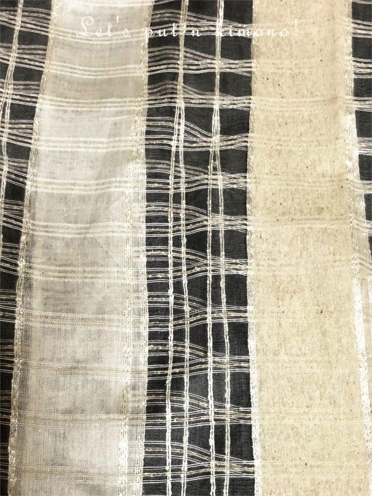 生糸と真綿を織ってみると