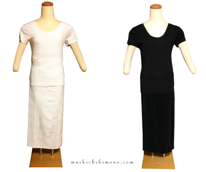 白と黒の下着