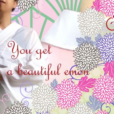 "You get a beautiful ""emon"" neck line"